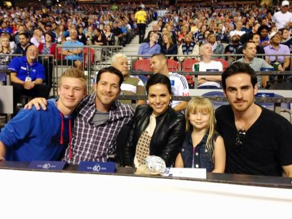 Sean, Lana, & Colin with fans at the Vancouver Whitecaps vs San Jose Earthquakes game