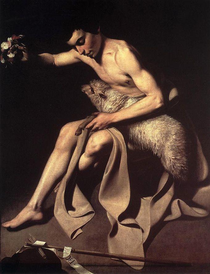 St. John the Baptist by Caravaggio, 1595