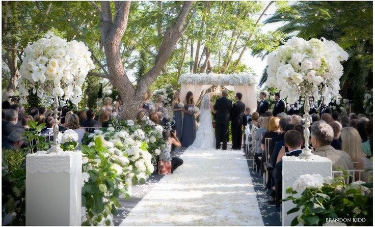 Vintage Wedding Of Shawn And Zack In Rancho Santa Fe: Wedding Ceremony Draped Arch Decorations