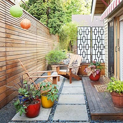 83 best Narrow space, Side yard images on Pinterest | Side yards ...