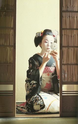 Geisha Girl in Kyoto, Japan