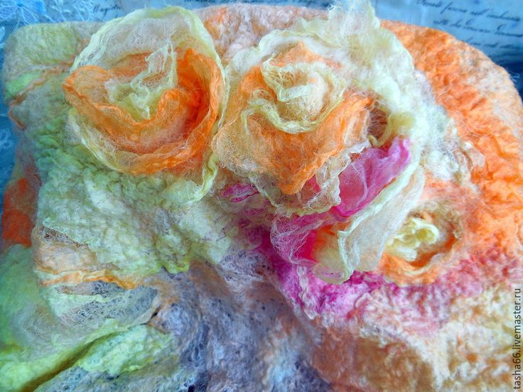 """Купить """"Весна"""". Берет шелковый - разноцветный, берет летний, летний берет купить, купить берет"""
