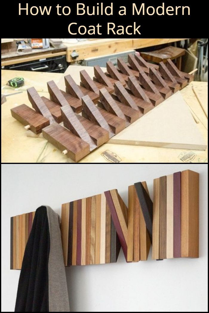 How To Build A Modern Coat Rack Woodworking Diy