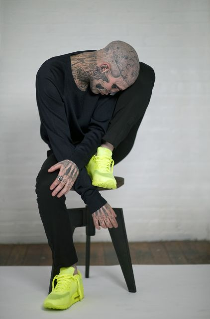 THOSE SHOES: Wild Heart, Nikes Shoes, Tattoo'S Galor, Rickgenest, Nikes Air Max, Zombies Boys, Sneakers, Hot Boys, Rick Genest