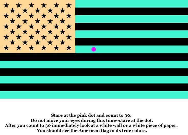 brain illusions optical teasers illusion flag eye dot pink tricks funny perception uploaded user teas