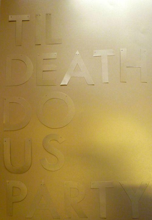 Got gold lust? TIL DEATH DO US PARTY Bridal shower decor by Paper Street Dolls