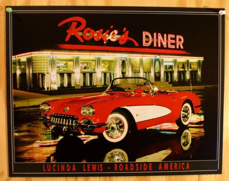 1958 Corvette Rosie's Diner Tin metal Sign Classic 58 Chevy Chevrolet Vette Hot Rod fifties diner