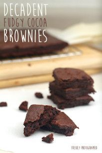 Decadent Fudgy Cocoa Brownies