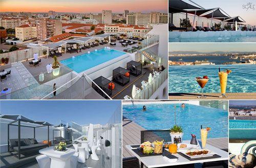 Esplanadas e terracos em Lisboa Upscale Bar, Epic Sana Amoreiras. maior piscina rooftop