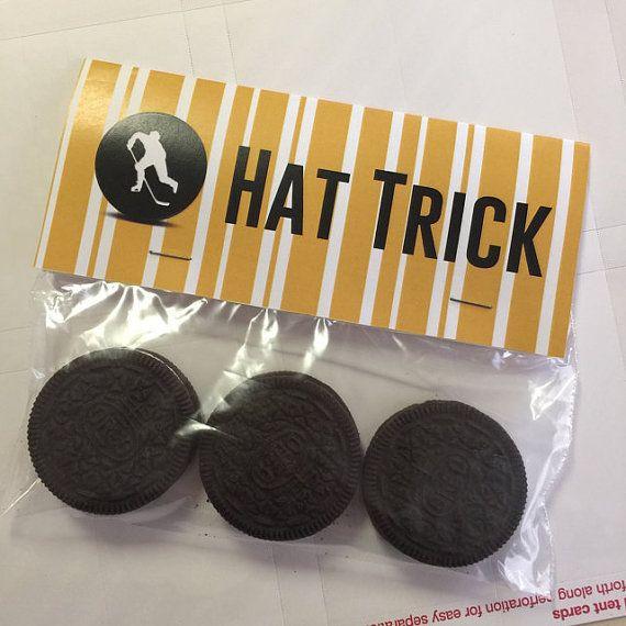 Hat Trick Bag Hockey Birthday Party Treat Topper Bags Boston
