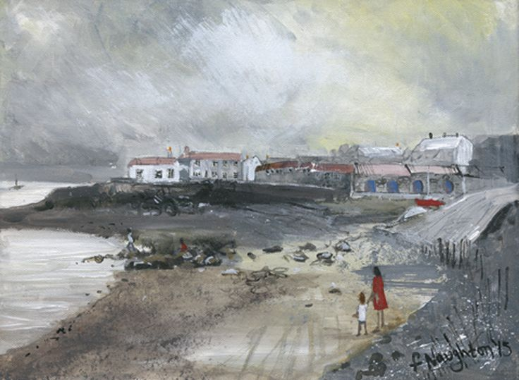 CRASTER  Looking towards Craster village from the harbour. The limited edition print was made from an original acrylic painting on canvas.     Format: Limited edition Giclee printed on Epson Enhanced Matt 192gsm  Print size: 25 x 35cm  Mounted size: 43 x 50cm  FREE UK mainland standard delivery on all orders