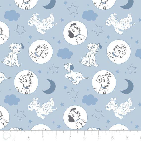 New Disney Fabric: Camelot Disney 101 Dalmatians  Time for