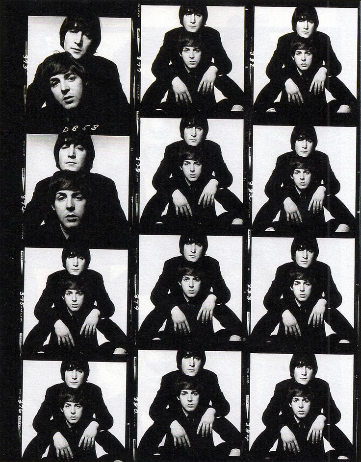 Proof sheets from photo session with Lennon & McCartney, 1965 (David Bailey)