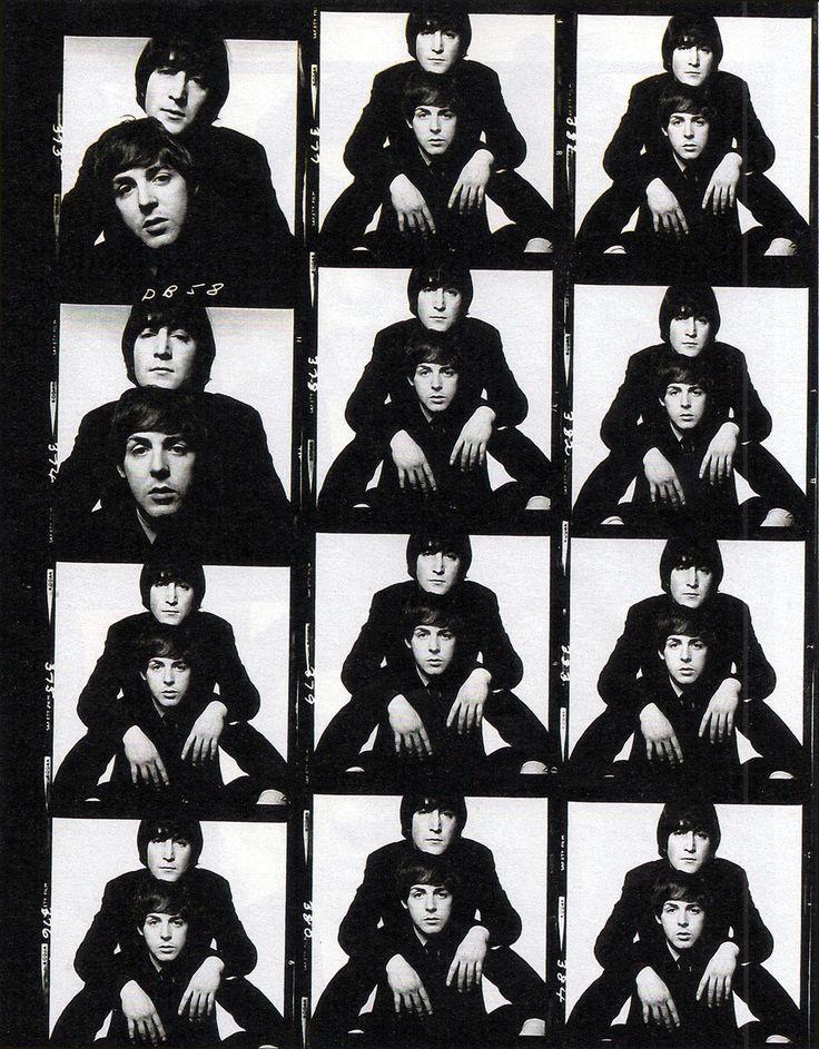 John & Paul - David Bailey's proof sheets, 1965 | via Beatle Love ~ Cityhaüs Design