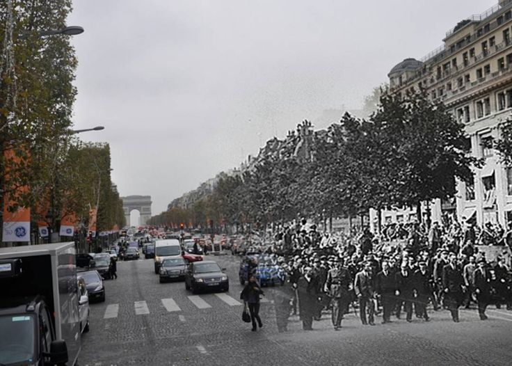 """1,439 Likes, 3 Comments - @ww2nowandthen on Instagram: """"De Gaulle is leading a victory parade during the liberation of Paris.  The Liberation of Paris…"""""""