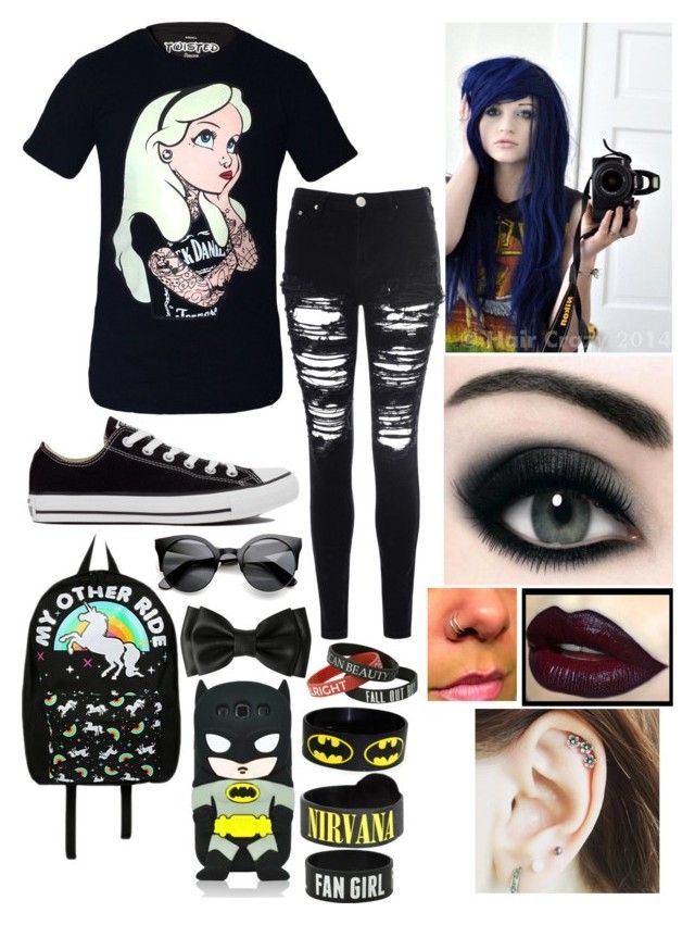 """Emo high schooler"" by lorfanoclan ❤ liked on Polyvore"