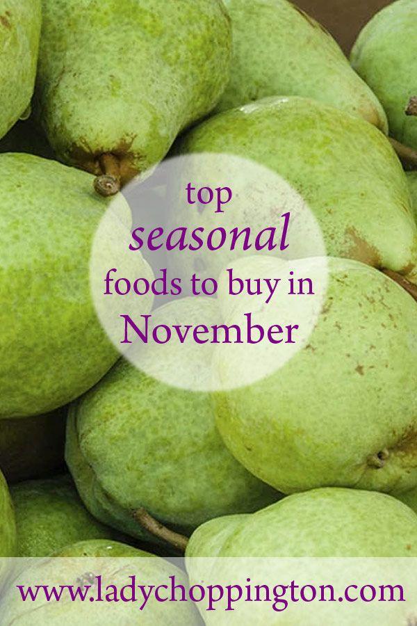 Top seasonal foods to buy in November: http://bit.ly/2ftXwdg