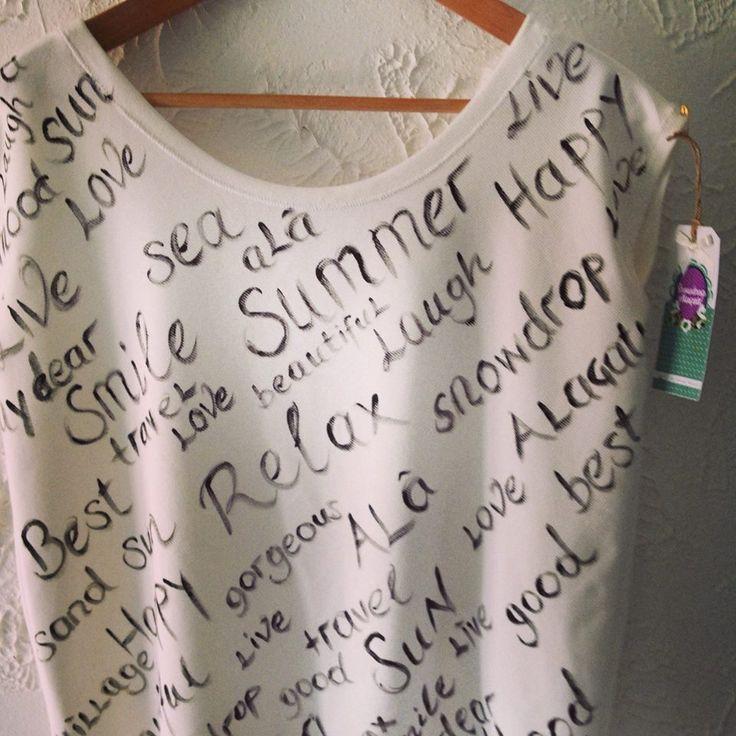 Kumaş boyasıyla yapılan tshirt uygulamalarımız , sizce de çok tarz değil mi ?