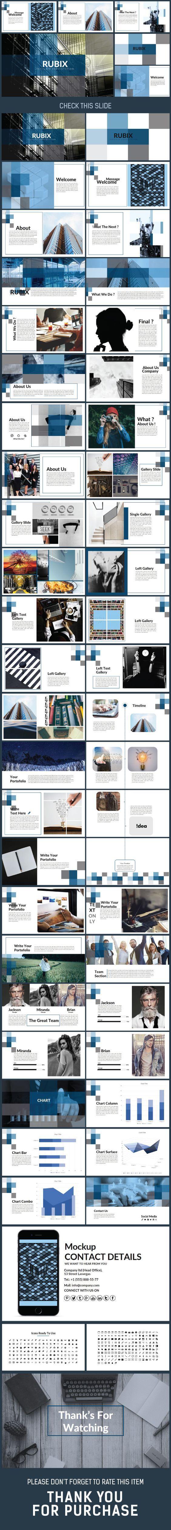 RUBIX - Presentation PowerPoint Template:
