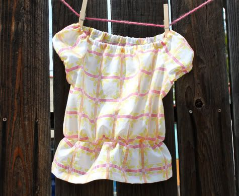 Ditch the gathered waist, and make it longer for a dress. (Dresses on little girls are just the easiest) And of course, pink.