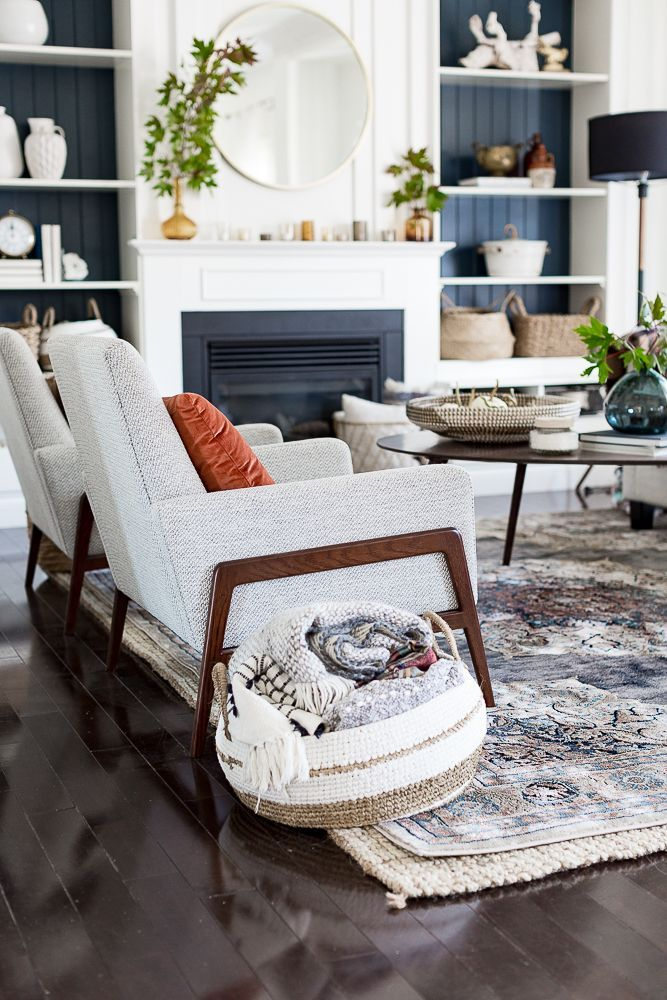Navy White Autumn Living Room Design Living Room Design Living