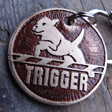 Custom Dog Tag, Dog ID, Agility Dog Tag. $22.00, via Etsy. I need ID tags for my dogs to put on when they aren't competing.