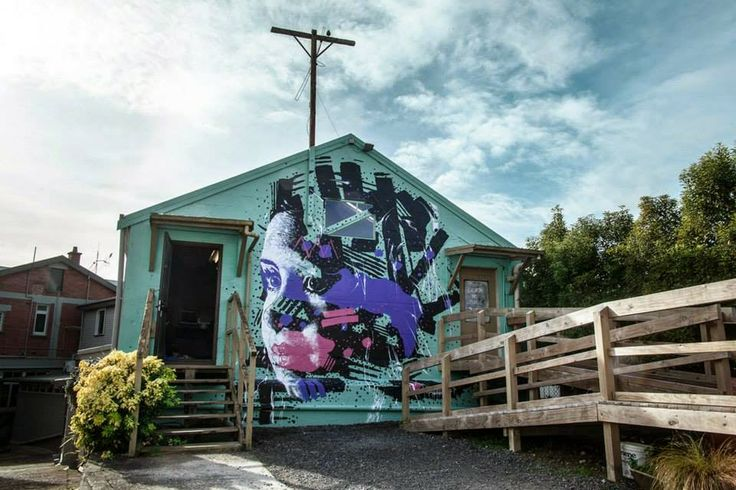 While we last heard from him last month in Tahiti (covered), Askew is now back in New Zealand where he just wrapped up this new piece in Te Awamutu, a town in the Waikato in the North Island of New Zealand.