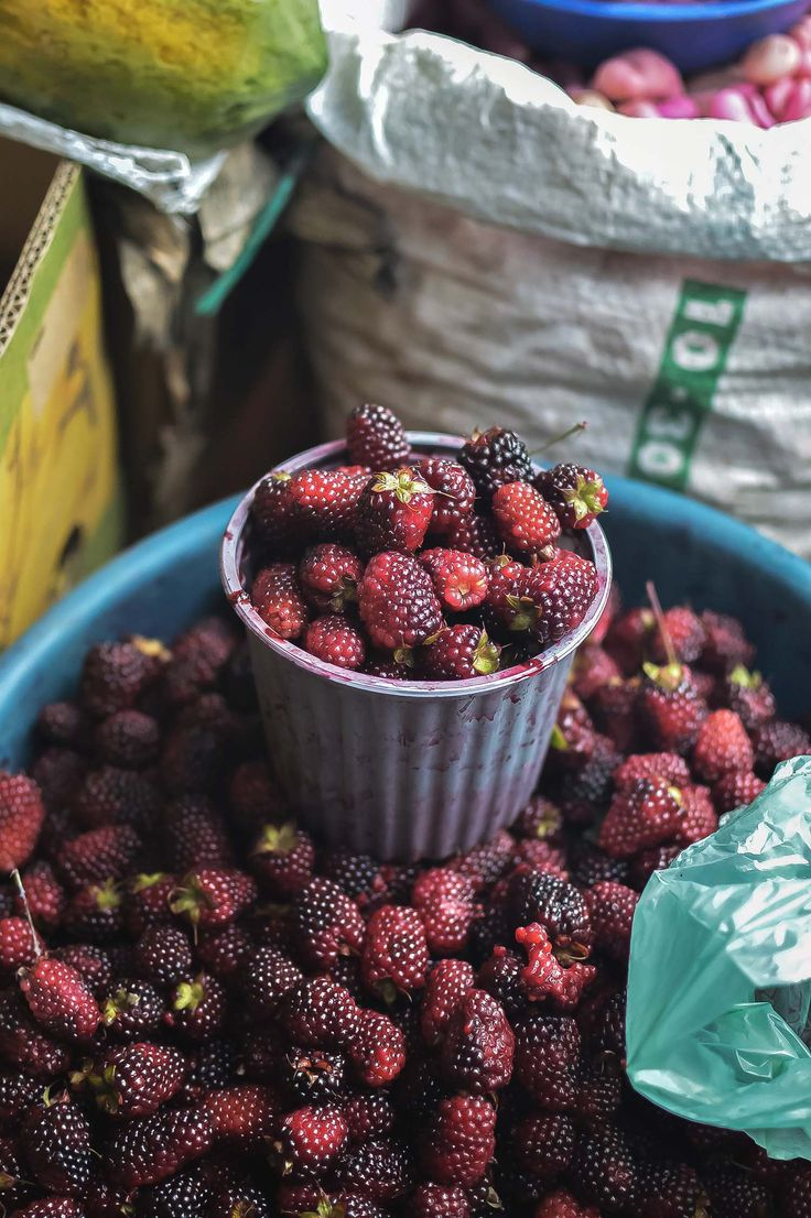 Mora (blackberries) at Mercado Municipio, Otavalo, Ecuador | heneedsfood.com