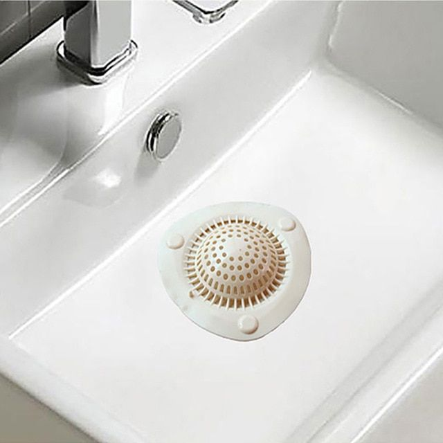 Sink Strainer Basket Hair Catcher Drain Protector for Bathroom Sinks 1 inch