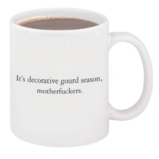 """It's Decorative Gourd Season"" Mug by McSweeney's"