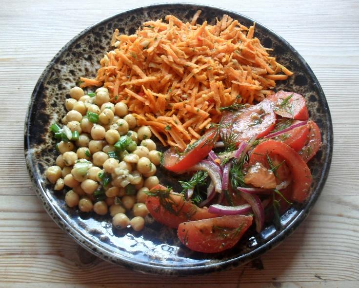 139 best moroccan images on pinterest vegan recipes vegetarian easy vegan raw moroccan salad platter forumfinder Image collections
