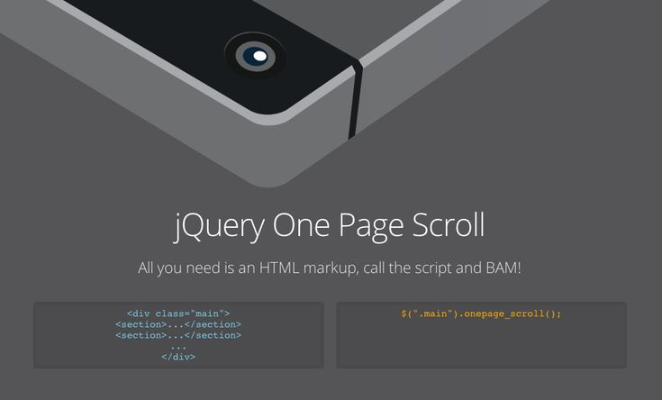 jQuery One Page Scroll by Pete R.   The Pete Design