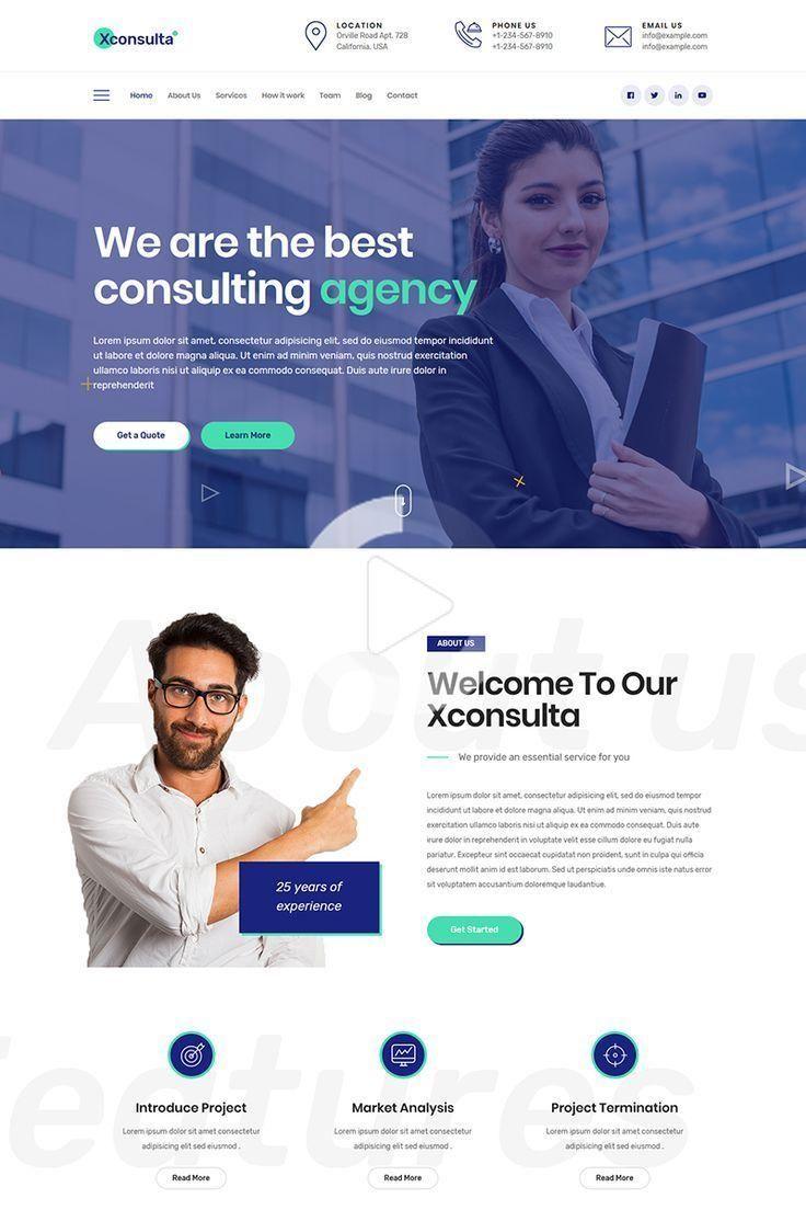 Xconsulta Business Multi Purpose Wordpress Theme 81825 In 2020 Corporate Website Design Business Website Design Web Design Inspiration