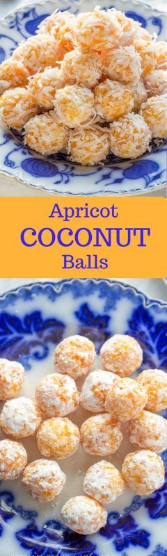 Apricot Coconut Balls - Tangy apricots and coconut combine with sweetened condensed milk for a tasty no-bake treat! www.savingdessert.com #savingroomfordessert #holidaytreats #christmas #nobake #cookies #apricots