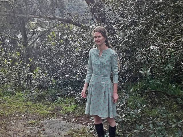 I now have the right outfit should I ever become a sixties folk singer. Antipodean Stitcher: Winter Garden Party