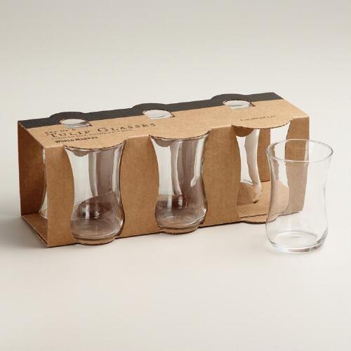 One of my favorite discoveries at WorldMarket.com: Tulip Tasting Shot Glasses, Set of 6