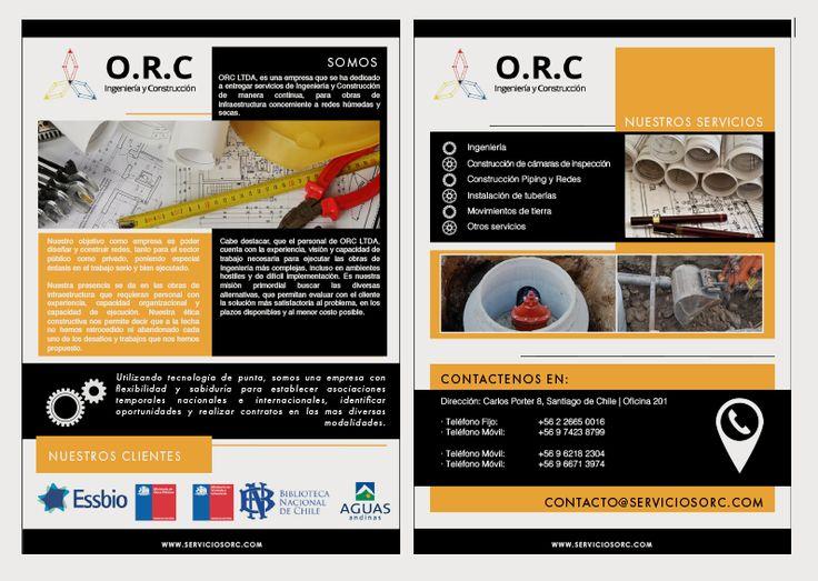 Brochure Empresa constructora ORC.