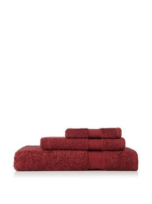 Nine Space Milo's Bath Towel Set (Maroon)