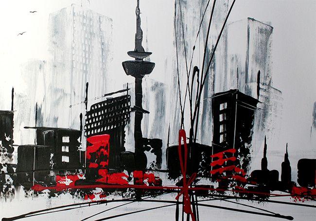 22 best images about schilderij steden skylines on for Skyline schilderij