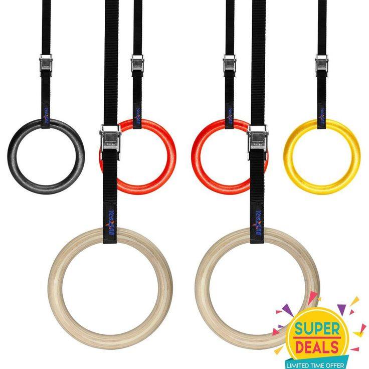 Yes4All Portable Olympic Gym Rings Gymnastics Fitness Strength Training #Yes4All