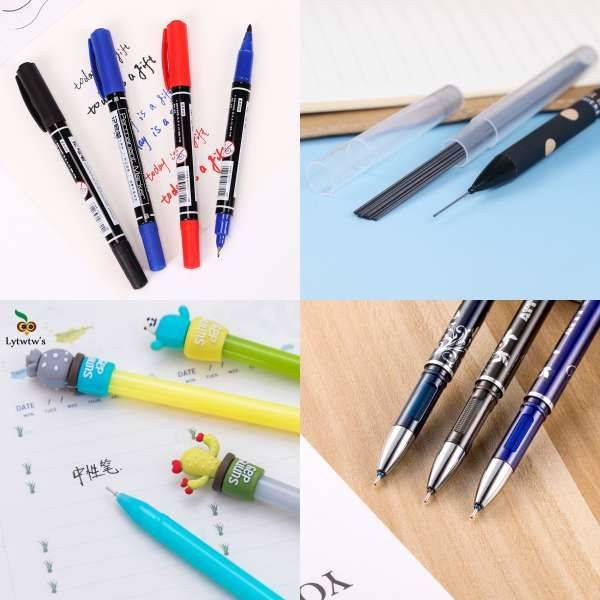 Ink 0.7mm Office Supplies Automatic Pens Ballpoint Pen Student Stationery