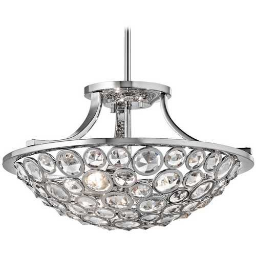 Kichler lighting kichler lighting semi flushmount light in chrome finish 42669ch destination lighting · flush mount ceiling