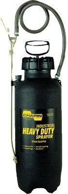 Chapin? - Heavy-Duty Sprayers 3 Gallon Heavy-Duty Sprayers - Sold as 1 Each by Chapin Products. $103.78. Chapin? - Heavy-Duty Sprayers 3 Gallon Heavy-Duty Sprayers - Sold as 1 EachWide opening for easy filling and cleaning. Built-in relief valve and pressure gauge. Brass plated shut-off has lock-on feature for continuous spraying. Heavy duty nylon reinforced hose to resist chemicals. VITON equipped for maximum chemical resistanceBody Material: Polyethylene Capacity Vol....