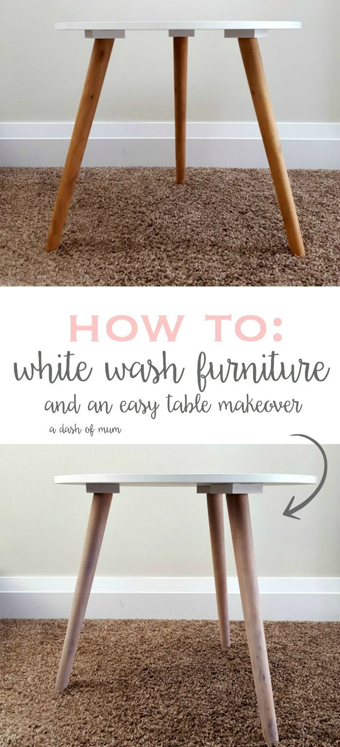 how to white wash furniture + a simple table makeover | A Dash Of Mum