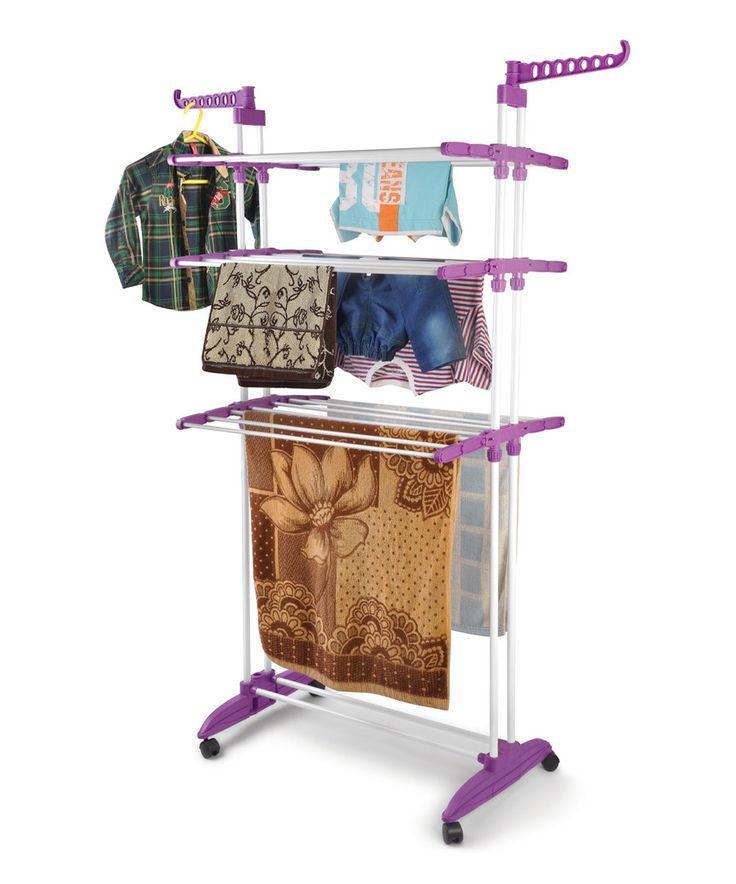Look at this Rich Plum Multifunction Clothes Drying Stand on #zulily today!
