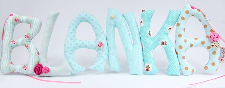 Szyte literki Sew letters