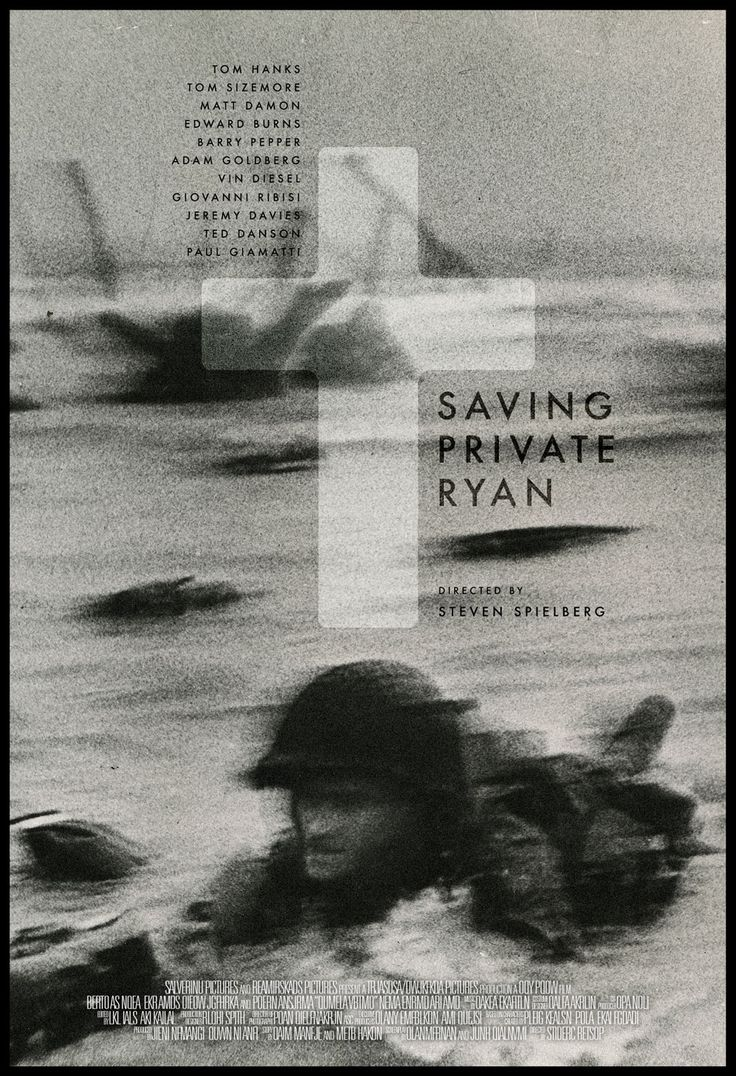 saving private ryan poster interpretation High resolution official theatrical movie poster (#1 of 2) for saving private ryan ( 1998) image dimensions: 2016 x 2956 directed by steven spielberg starring tom hanks, tom sizemore, dennis farina, max martini.