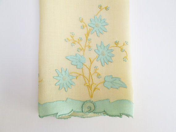 Antique Vintage Madeira Hand Towel for Guest Bath