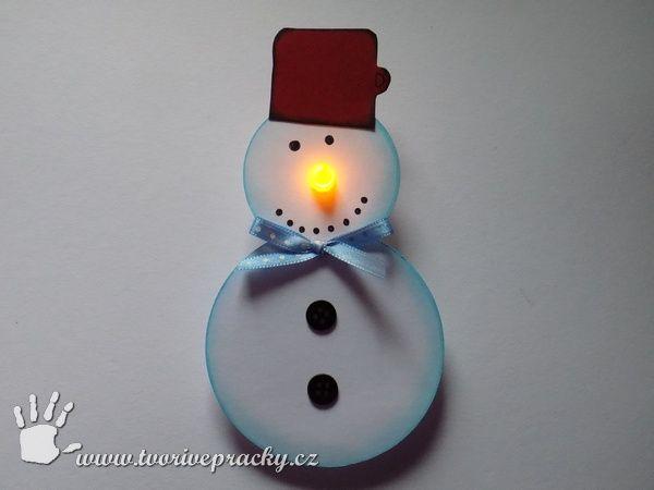 Sněhulák se svítícím nosem