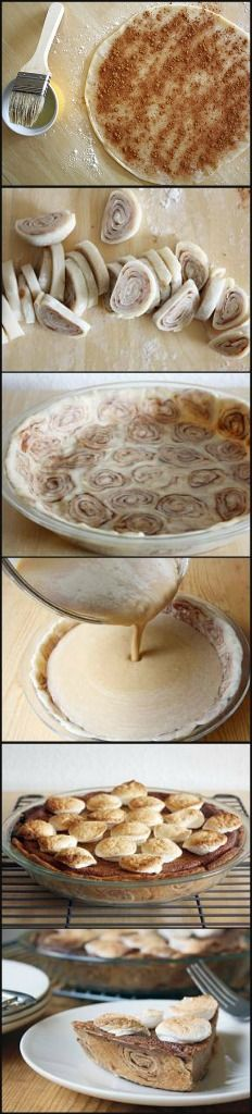 Sweet potato pie with a cinnamon roll crust. Crust Ingredients: 1 ...